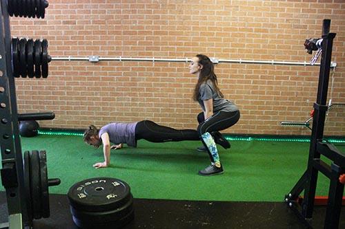 push up squats 1