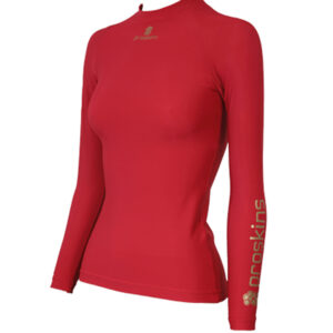 ACTIVE Womens Long Sleeve Compression Crew Neck Top Red size UK18