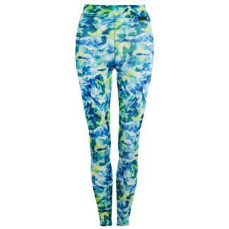 Active Women ZigZag Full Print Compression Leggings with Silver Anti-bacterial Finish size UK6