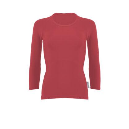 SLIM 3 Quarter Length Sleeve Top (ITA) Burgundy size UK4