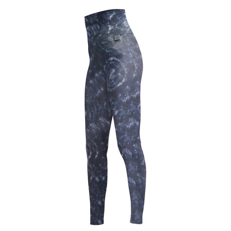 Slim High Waisted Indigo Print Compression Leggings Plus With Silver Anti Bacterial Finish Ita Proskins Men S And Women S Sportswear And Accessories