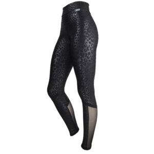 Slim Boost Signature Leggings black Leopard and Mesh to reduce cellulite