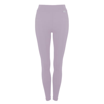 SLIM Compression Leggings with Silver Anti-bacterial Finish Mauve size UK4-6
