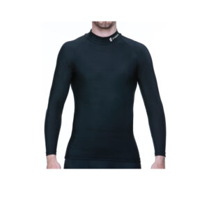 Moto Black Compression Baselayer Long Sleeve High Neck Top
