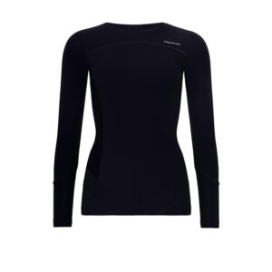 Womens POWER Long Sleeve Black Top