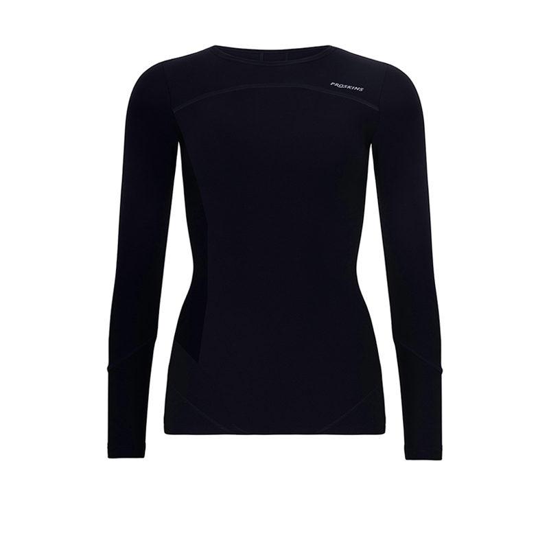 db082539 Womens POWER Long Sleeve Black Top - Proskins: Men's and Women's ...