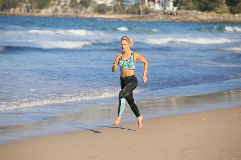 proskins active zig zag running leggings