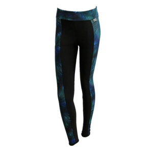 SLIM Black Neon Tropic Panel Leggings (OUTLET)