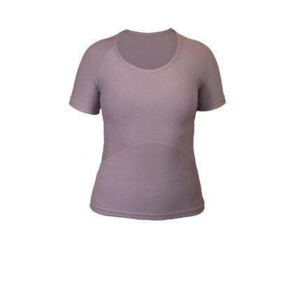 SLIM Short Sleeve Top (ITA) Mauve size UK10