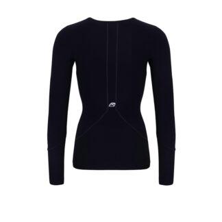 Womens POWER Long Sleeve Black Top