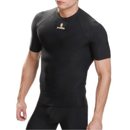 ACTIVE Men Short Sleeve Compression Crew Neck Top Black size 2XS