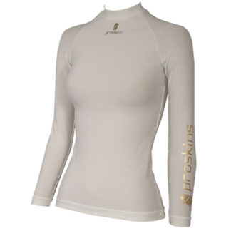ACTIVE Womens Long Sleeve Compression Crew Neck Top White size UK18