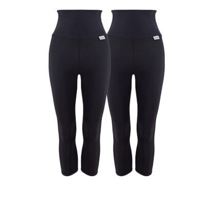 28 Day Challenge High Waisted Compression Capri Starter Pack with Silver Anti-bacterial Finish