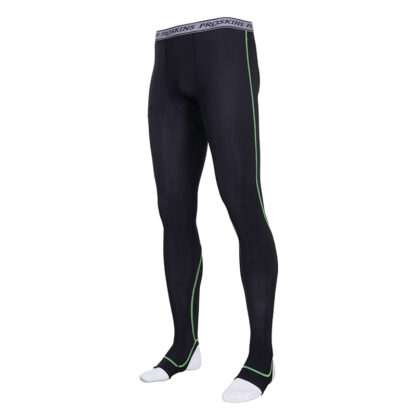 RECOVERY Men Black Compression Footed Leggings with Silver Anti-bacterial Finish