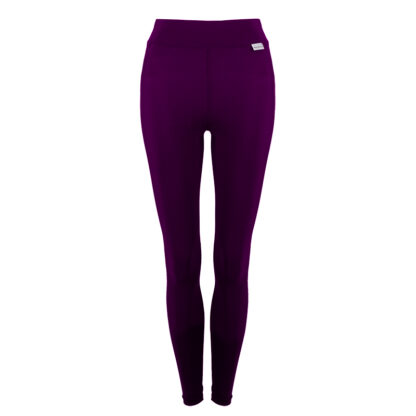 SLIM Compression Leggings with Silver Anti-bacterial Finish Damson size UK4-6