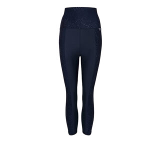 SLIM High Waisted Embossed Panel Compression Capri PLUS with Silver Anti-bacterial Finish (ITA)