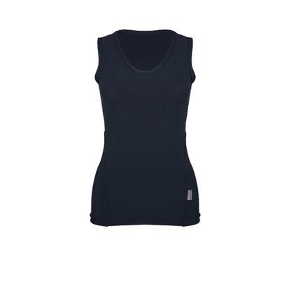 SLIM V Neck Vest Top (ITA) Black size UK4
