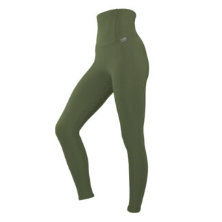 SLIM Boost Slim and Shape Compression Leggings with Silver Anti-bacterial Finish (ITA) Khaki size UK4-6