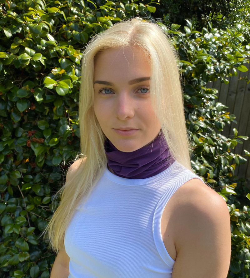 SLIM Compression Snood with Silver Anti-bacterial Finish