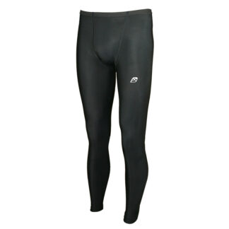 ACTIVE Men Fold Over Waist Baselayer Compression Leggings with Silver Anti-bacterial Finish Black size 2XS