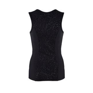 SLIM Luxe Panel Black Vest Top (OUTLET) size UK6