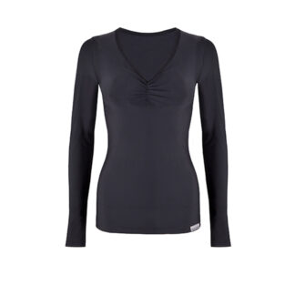 SLIM Ruched Long Sleeve Top