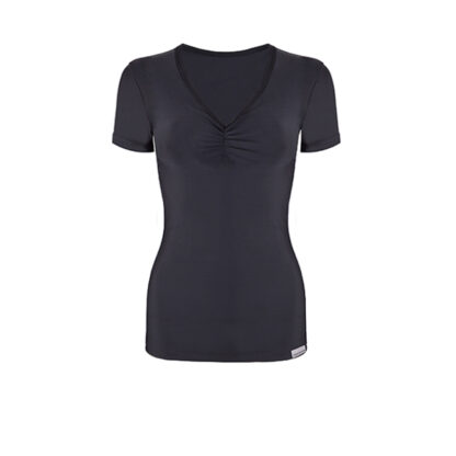 SLIM Ruched Short Sleeve Top (OUTLET)