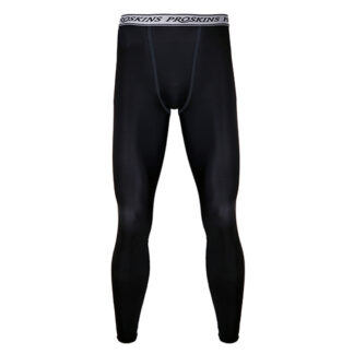 RECOVERY Men Black Compression Leggings with Silver Anti-bacterial Finish