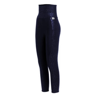 SLIM High Waisted Embossed Floral Print Panel Compression Leggings Plus with Silver Anti-bacterial Finish(ITA)