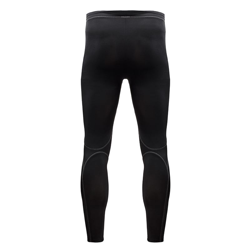Active Men Black Run Compression Leggings with Silver Anti-bacterial Finish