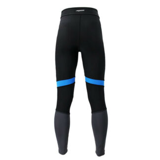 SLIM GYM Black Blue Grey Panel Compression Leggings with Silver Anti-bacterial Finish