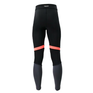 SLIM GYM Black Pink Grey Panel Compression Leggings with Silver Anti-bacterial Finish
