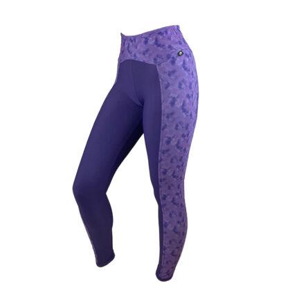 SLIM Luxe Crown Jewel/Purple Rain Panel Leggings