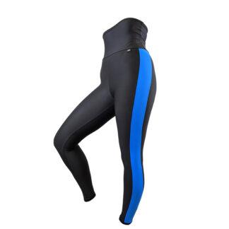 SLIM Textured High Waist Leggings Black/Blue