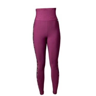 SLIM Anti Cellulite High Waist Narrow Panel Leggings Claret Red/Pink Tones