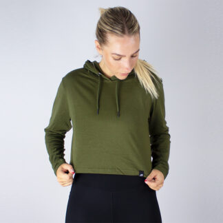 Womens Cropped Hoodie T-Shirt