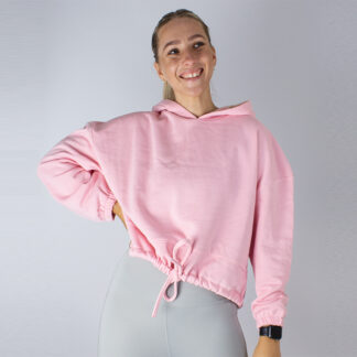 Womens Oversized Cropped Hoodie